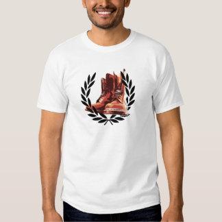 skins boots tee shirt