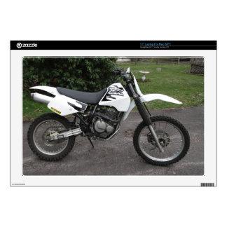 """Skins Suzuki DR Dirt Bike Motorcycle Black & White 17"""" Laptop Decals"""