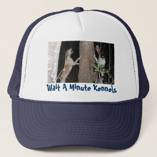 Skip & Chase,Wait A Minute Kennels - Customized Trucker Hat