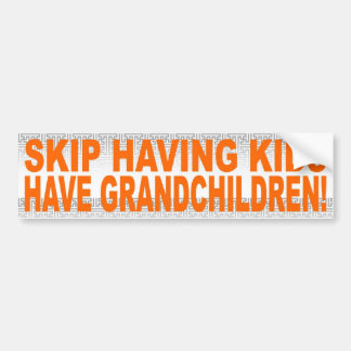 SKIP HAVING KIDS, HAVE GRANDCHILDREN! BUMPER STICKER