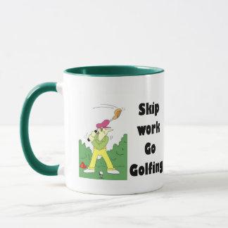skip work go golfing mug