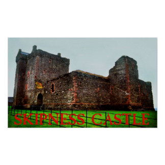 skipness castle print