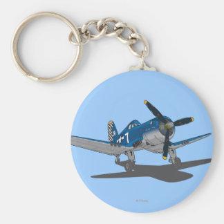 Skipper 2 basic round button keychain