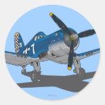 Skipper 2 classic round sticker