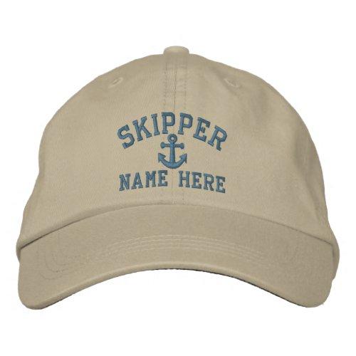 Skipper _ customizable embroidered baseball cap