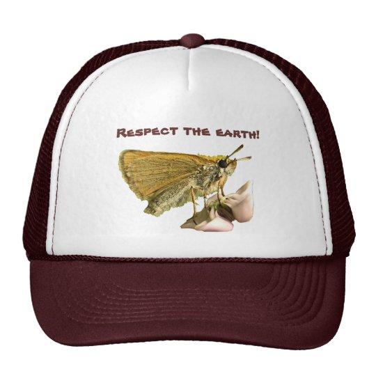 Skipper on Milkweed Earth Cap Trucker Hat