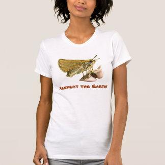 Skipper on Milkweed Earth Day T-Shirt