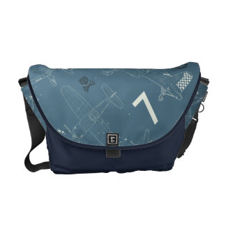 Skipper Pattern Courier Bag