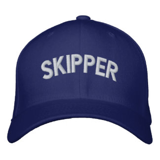 Skipper text embroidered baseball hat