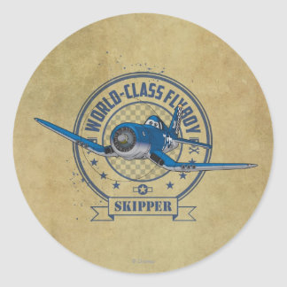 Skipper - World Class Flyboy Classic Round Sticker