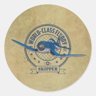 Skipper - World Class Flyboy Classic Round Sticker