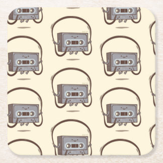 SKIPPING CASSETTE Square Coasters