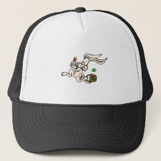 Skipping Easter Bunny Trucker Hat