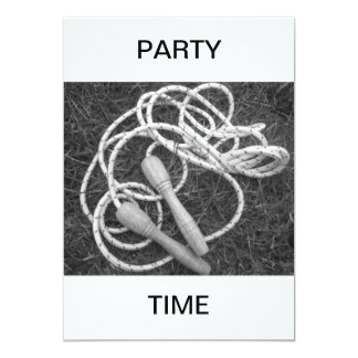 Skipping Ropes Party Time Invitation
