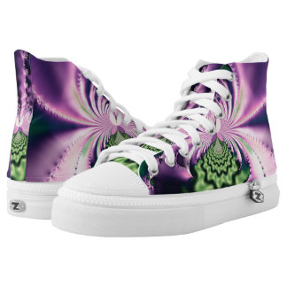 Skipping Stones Fractal High-Top Sneakers