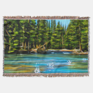 Skipping Stones Throw Blanket