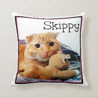 Skippy and Buddy Throw Pillow