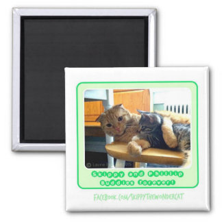 Skippy and Phillip 2 Inch Square Magnet