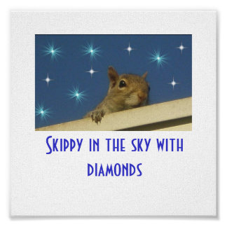 Skippy in the sky with diamonds Poster