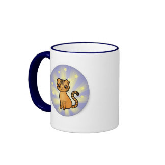 Skippy la taza del campanero del gato de la