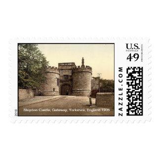 Skipton Castle, gateway, Yorkshire, England 1905 Postage
