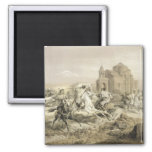 Skirmish of Persians and Kurds in Armenia, plate 1 2 Inch Square Magnet