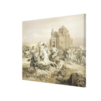 Skirmish of Persians and Kurds in Armenia, plate 1 Canvas Print