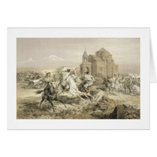 Skirmish of Persians and Kurds in Armenia plate 1 Cards