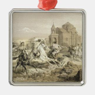 Skirmish of Persians and Kurds in Armenia, plate 1 Metal Ornament