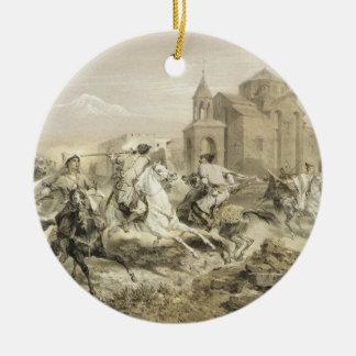 Skirmish of Persians and Kurds in Armenia, plate 1 Ornament
