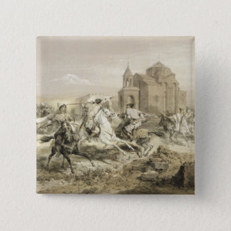 Skirmish of Persians and Kurds in Armenia, plate 1 Pinback Button