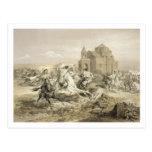 Skirmish of Persians and Kurds in Armenia, plate 1 Postcard