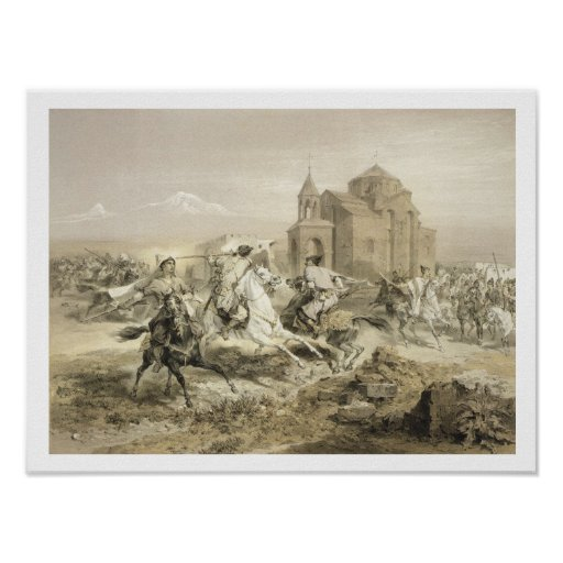 Skirmish of Persians and Kurds in Armenia, plate 1 Poster
