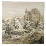 Skirmish of Persians and Kurds in Armenia, plate 1 Tile