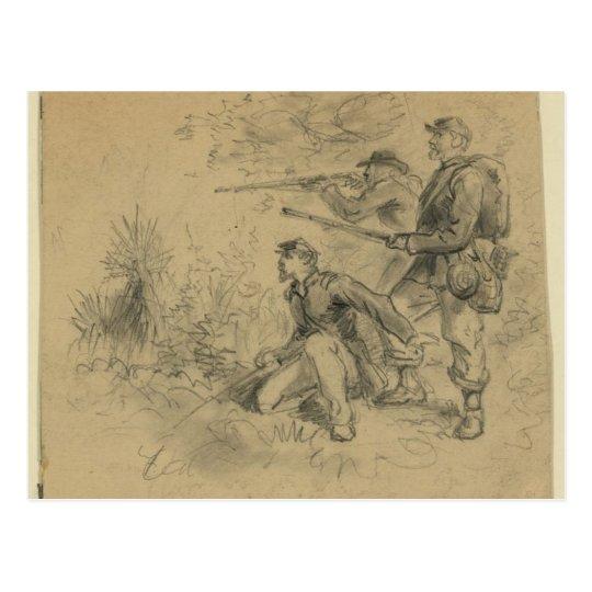 Skirmishing Postcard