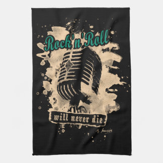Skirt n roll Microphone - green Hand Towel