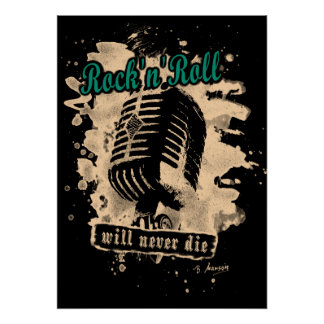 Skirt n roll Microphone - green Poster