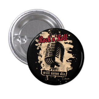 Skirt n roll Microphone - talk Pinback Button