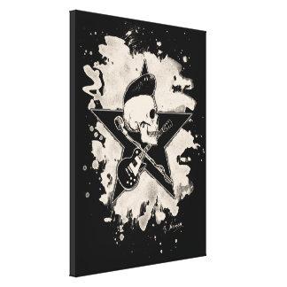 Skirt n roll Skull - bleached Canvas Print