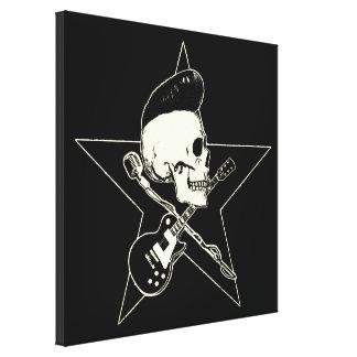 Skirt n roll Skull Canvas Print