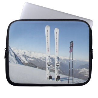 Skis and Ski Poles Computer Sleeve