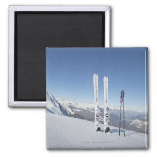 Skis and Ski Poles Magnet