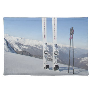 Skis and Ski Poles Placemat