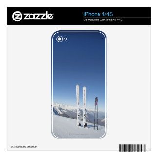 Skis and Ski Poles Skin For The iPhone 4