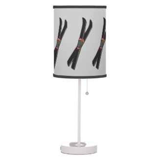 Skis Design Table Lamp Shade