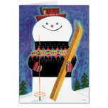 Skis for Snowman Card