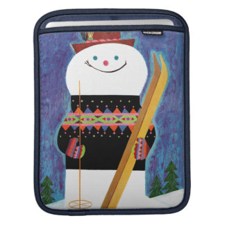 Skis for Snowman iPad Sleeves