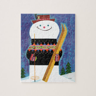 Skis for Snowman Jigsaw Puzzle