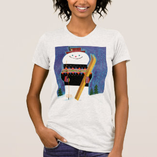 Skis for Snowman T-shirts