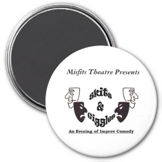 skits and gigles 3 inch round magnet